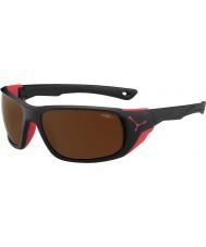Cebe Jorasses grandes matt pretas vermelhas 2000 de flash marrom espelho óculos de sol
