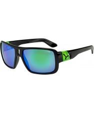 Cebe óculos de sol verdes pretos brilhantes Lam