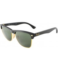 RayBan Rb4175 57 Clubmaster de grandes dimensões demi preto brilhante a ouro 877 óculos de sol