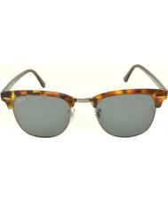 RayBan Rb3016 51 Clubmaster manchado azul havana 1158r5 óculos de sol