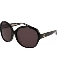 Gucci Ladies gg0080sk 001 óculos de sol