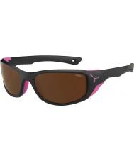 Cebe Jorasses meio matt black pink 2000 em flash marrom espelho óculos de sol