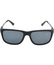 Polo Ralph Lauren Ph4088 55 fosco cinza negra 528481 óculos polarizados