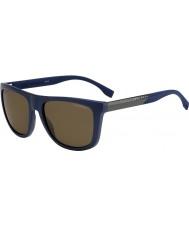 HUGO BOSS Mens chefe 0834-s hwq sp azul óculos polarizados