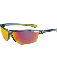 Cebe Cinetik grande matt translúcido óculos de sol azuis