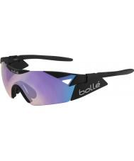Bolle 6th Sense s preto fosco óculos de sol azuis-violeta