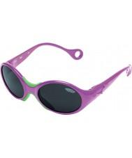 Cebe 1973 (idade 1-3) metálicos rosa 2000 óculos de sol cinza