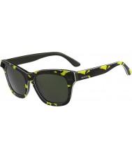 Valentino Senhoras v670ss óculos de sol verdes do exército amarelo fluo