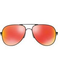 Oakley Oo4119-04 elmont m e l de cetim preto - óculos de rubi de irídio
