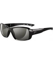 Cebe S-beijo óculos de sol pretos brilhantes