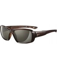 Cebe S-beijo brilhantes óculos de sol savana marrom