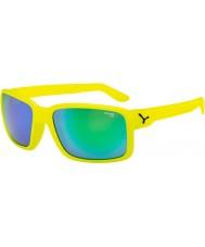 Cebe neon cara óculos de sol verdes amarelas
