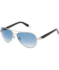 Furla Senhoras su4339s-300 jade brilhante ouro rosa óculos de sol espelhados prata