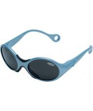 Cebe 1973 (idade 1-3) metálico brilhante azul pálido 2000 óculos de sol cinza