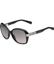 Jimmy Choo Senhoras alana-S D28 UE óculos de sol pretos brilhantes