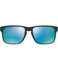 Oakley Oo9102-c1 Holbrook preto polido - PRIZM h2o profunda óculos polarizados