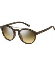 Marc Jacobs Marc 107-s n9p gg fosco havana óculos de sol espelho de prata