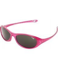 Cebe Gecko (idade 5-7)-de-rosa brilhante translúcidas 2000 óculos de sol cinza
