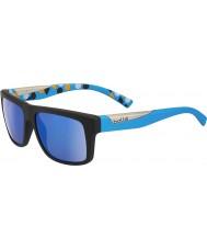 Bolle Clint preto fosco azul gb-10 polarizadas óculos de sol