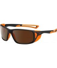 Cebe ProGuide matt laranja preto 2000 óculos de sol espelho de flash marrom