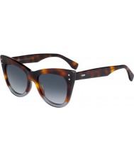 Fendi Ladies ff 0238-s ab8 óculos de sol 9o