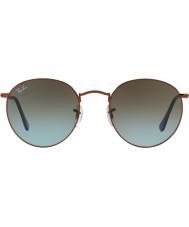 RayBan Rb3447 53 redonda de metal brilhante de bronze escuro 900396 óculos de sol