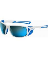Cebe ProGuide branco brilhante azul 4000 cinza minerais óculos de sol azuis