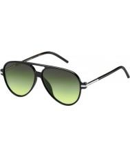 Marc Jacobs Marc 44-s d28 ib óculos de sol pretos brilhantes
