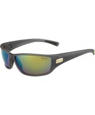 Bolle Python matt fumo óculos polarizados esmeralda verde marrom