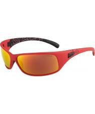 Bolle Recoil mate polarizada TNS óculos de sol vermelhos de fogo