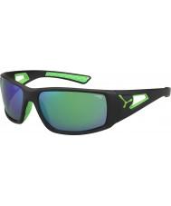 Cebe Sessão preto verde espelho 1,500 cinza óculos de sol verdes