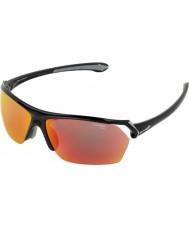 Cebe Selvagens brilhantes óculos de sol multicamadas preto
