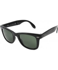 RayBan Rb4105 50 dobráveis wayfarer pretos 601 óculos de sol