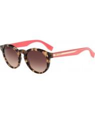 Fendi bloco ff 0085-s hK3 Cor d8 havana óculos cor de rosa
