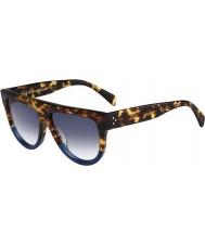 Celine Ladies cl 41026-s fu9 dv tartaruga óculos de sol azuis