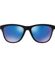 Oakley fosco moonlighter Oo9320-11 preto - safira irídio óculos polarizados