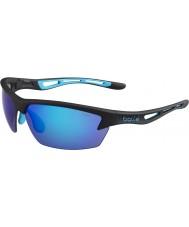 Bolle Bolt preto fosco azul óculos de sol