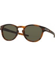 Oakley Oo9265-02 trava fosco concha de tartaruga marrom - óculos de sol cinza escuro