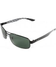RayBan Rb8316 fibra de carbono 62 tecnologia preto verde óculos polarizados 002-N5