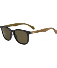 HUGO BOSS Mens chefe 0843-s RBG ec óculos de sol marrons pretas