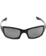Oakley Oo9238-06 cincos quadrado preto polido - irídio preto óculos polarizados