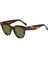 Celine Ladies cl 41053-s 9RH 1e óculos de tartaruga