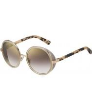 Jimmy Choo Senhoras Andie-S j7a nh ouro nus havana óculos de sol espelho de ouro