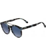 Lacoste L821s óculos de sol azuis havana