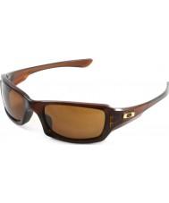 Oakley Oo9238-07 cincos quadrado rootbeer polido - óculos escuros bronze