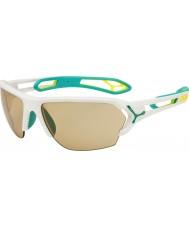Cebe S-track óculos de sol grande mate turquesa variochrom PERFO com 500 lente de substituição clara