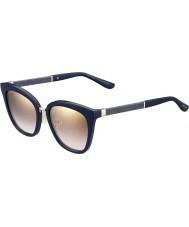 Jimmy Choo Ladies Fabry-s KCA nh azul reluzente espelho de ouro óculos de sol