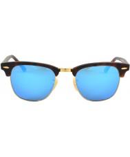 RayBan Rb3016 clubmaster areia tartaruga - espelho azul