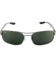 RayBan Rb8316 62 tecnologia de fibra de carbono de bronze de canhão verdes 004 óculos de sol