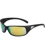 Bolle Recoil matt preto polarizadas marrom óculos de sol esmeralda